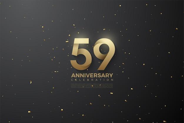 59e anniversaire avec des numéros à motifs spéciaux