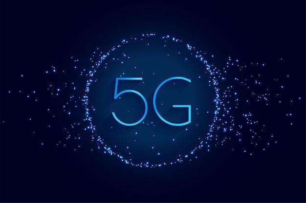 5e génération de fond numérique de technologie sans fil