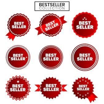 60. modèles vectoriels de ruban rouge best-seller vol.2