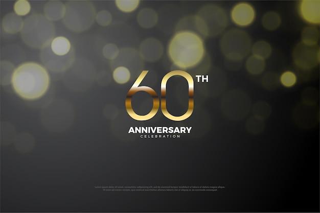 60e anniversaire avec un effet d'ombre
