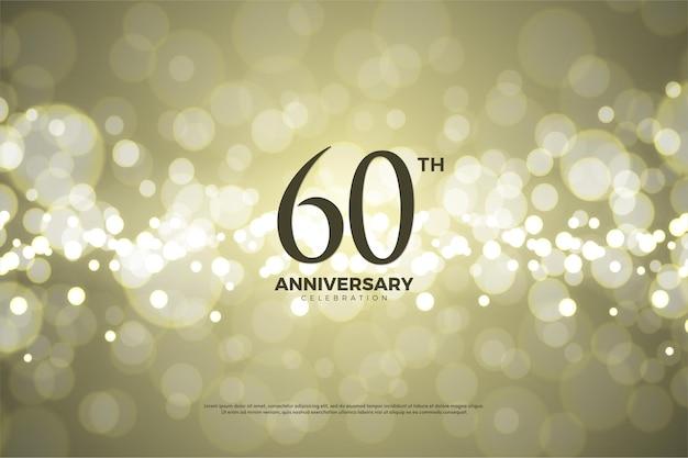 60e anniversaire avec des nombres en trois dimensions.