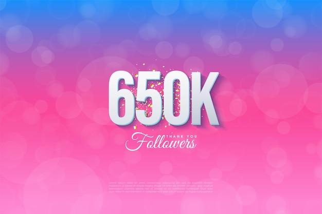 650 000 abonnés avec des antécédents notés