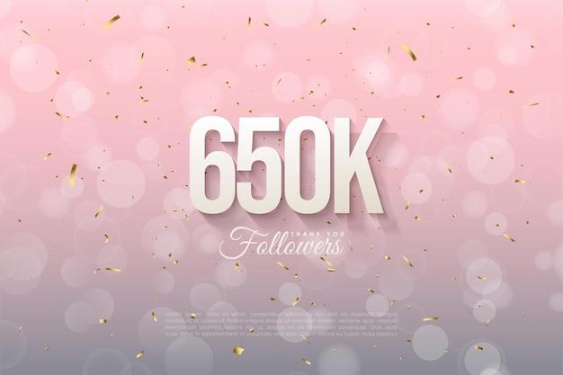 650 000 abonnés en arrière-plan