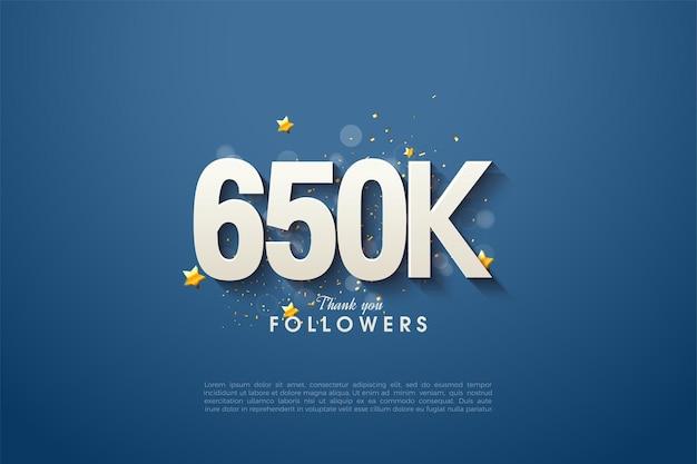 650 000 abonnés avec un design épuré et beau