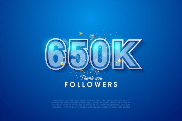 650k followers avec double bordure