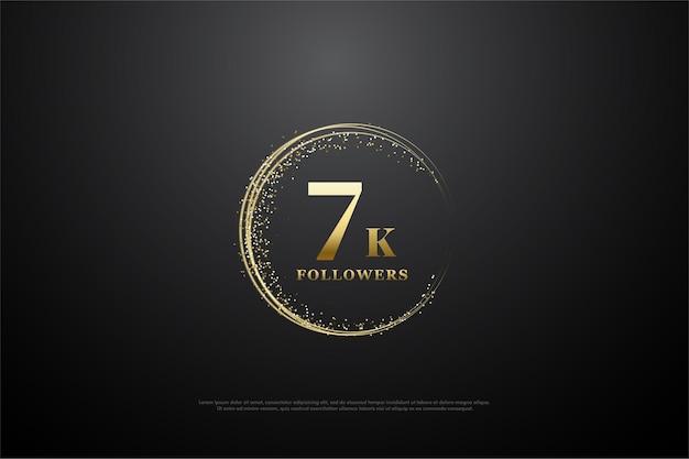 7 000 abonnés avec des chiffres entourés de sable doré