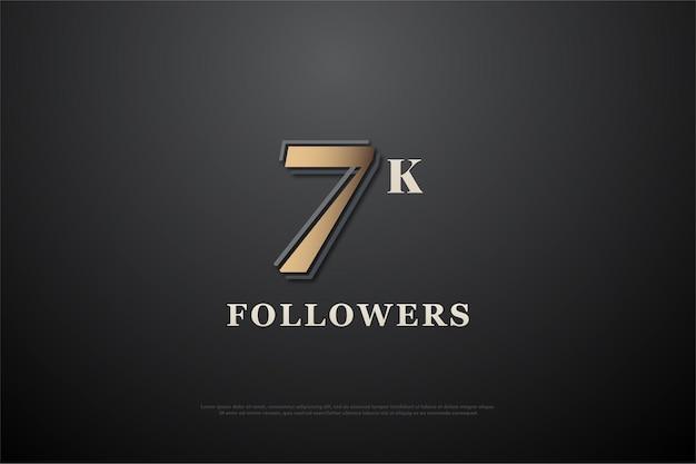 7 000 abonnés avec des nombres simples