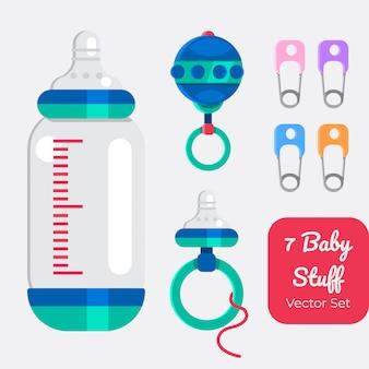 7 baby shower, ensemble d'articles pour bébé