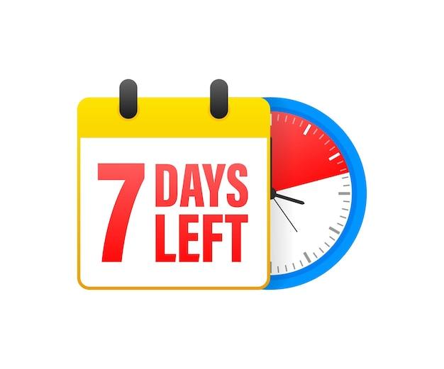 7 jours restants du calendrier.