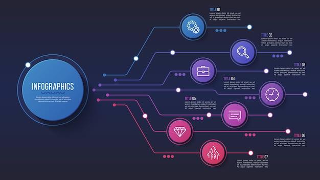 7 options de conception infographique, organigramme, présentation