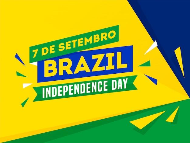 7 de setembro, bannière de la fête de l'indépendance du brésil