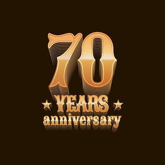 70 ans d'anniversaire