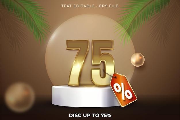75 pour cent de réduction sur la conception 3d d'été sur la scène du podium du produit