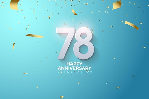 78e anniversaire avec chiffres 3d en relief