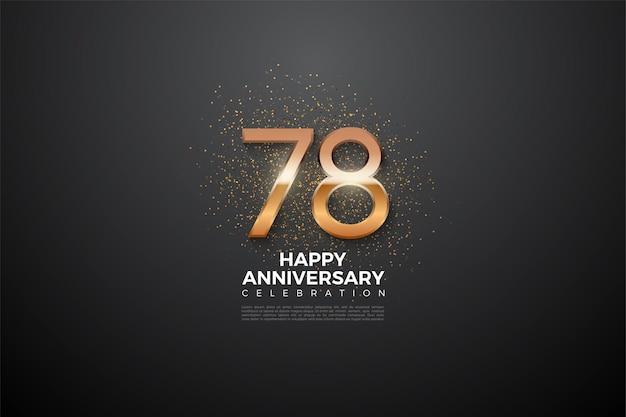 78e anniversaire avec des chiffres lumineux