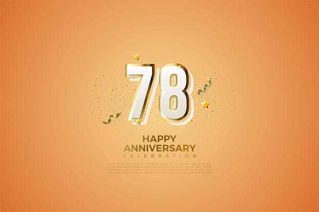 78e anniversaire avec des chiffres modernes