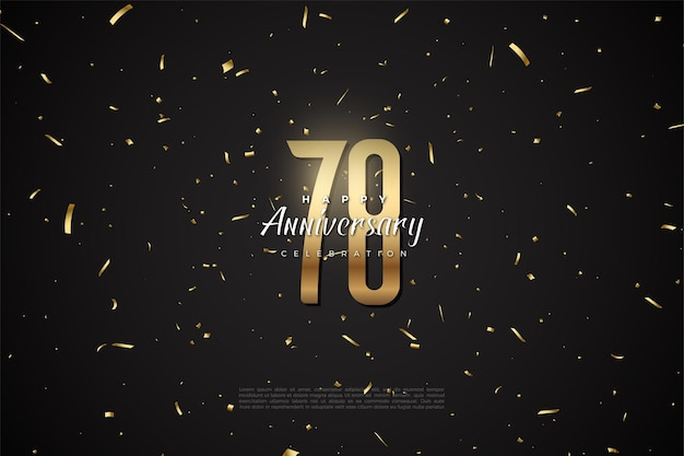 78e anniversaire avec des chiffres et des points d'or