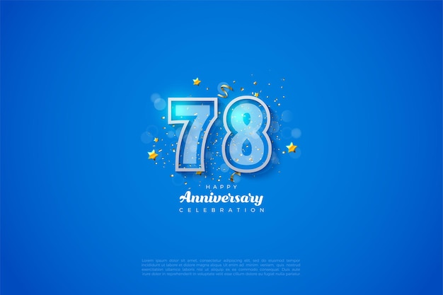 78e anniversaire avec double bordure numérique