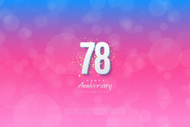 78e anniversaire avec un fond gradué