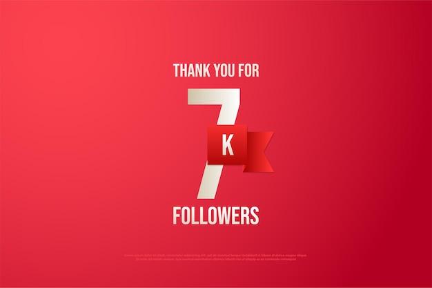 7k abonnés avec un beau ruban rouge