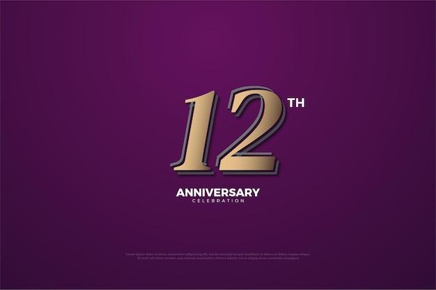 7k abonnés avec des chiffres marron sur fond violet
