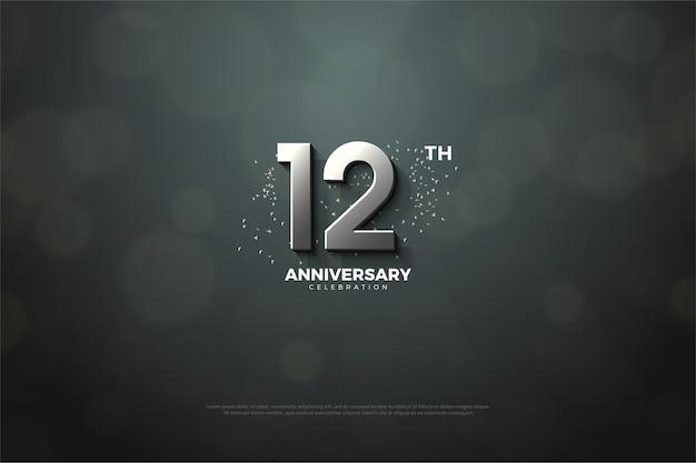 7k abonnés avec conception de nombres 3d