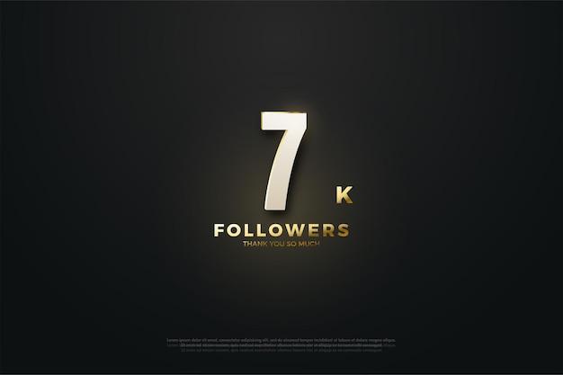 7k followers avec des chiffres en or et des paillettes