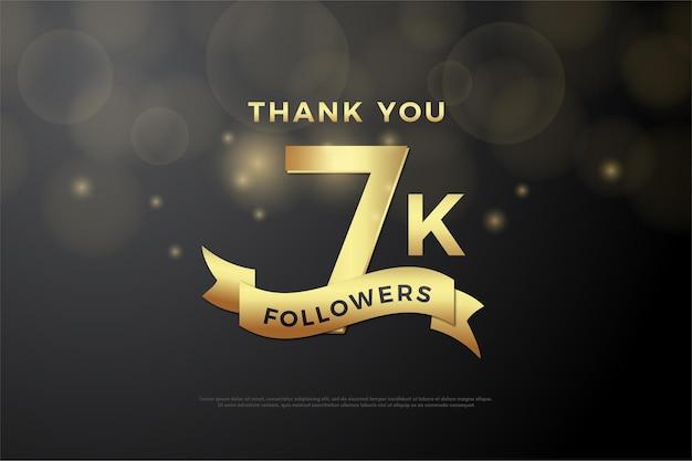 7k followers avec nombres d'or et ruban