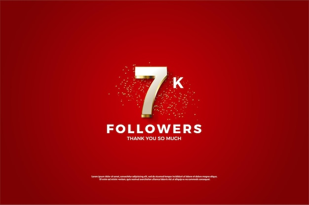 7k followers avec superposition de chiffres en or fantaisie