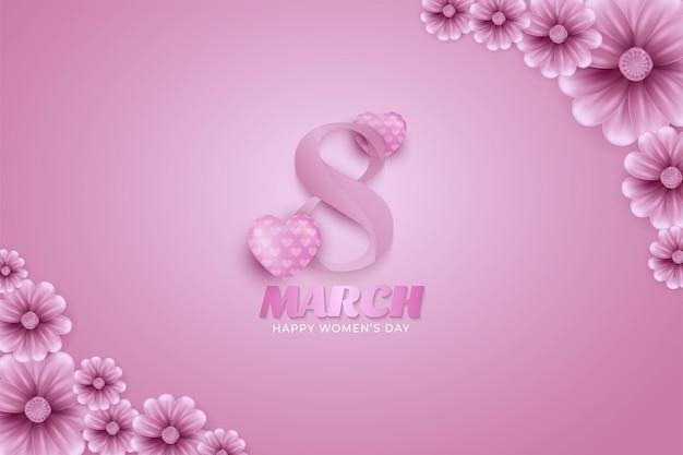 8 mars. carte de voeux florale bonne fête des femmes.