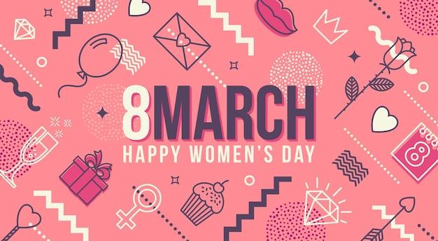 8 mars - carte de voeux de la journée internationale de la femme.