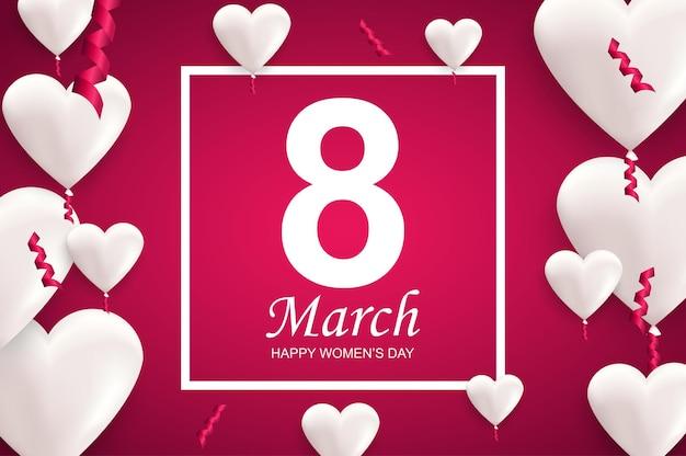 8 mars conception de voeux pour la journée internationale des femmes heureux