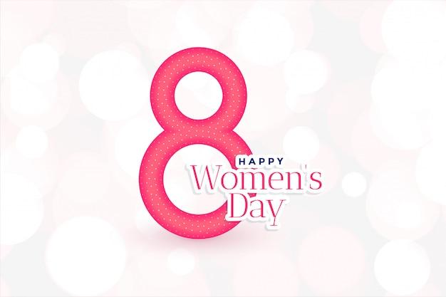 8 mars fond de la journée internationale de la femme heureuse
