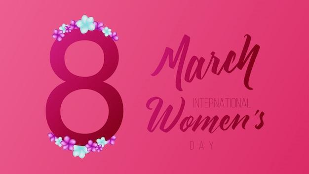 8 mars fond de la journée internationale des femmes