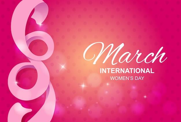 8 mars fond avec ruban