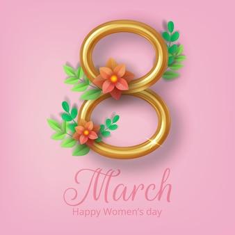 8 mars, journée internationale de la femme, carte de voeux