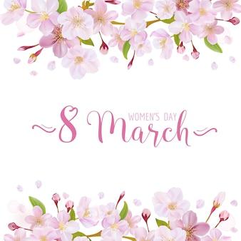 8 mars - modèle de carte de voeux pour la journée de la femme - in