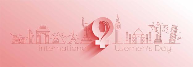 8 mars texte de typographie élégant de la journée de la femme heureuse. illustration vectorielle
