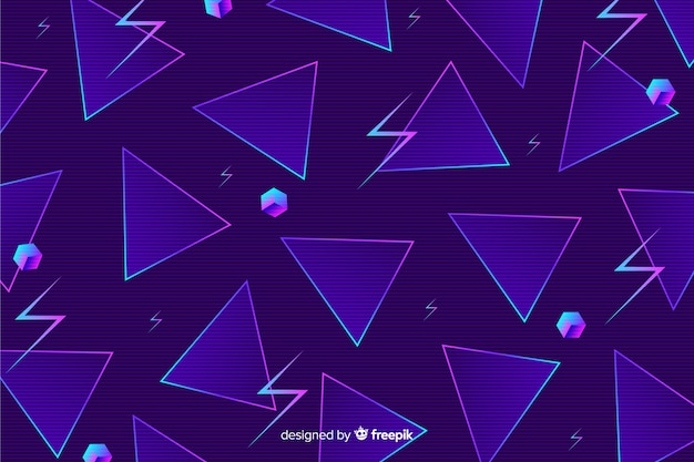 80 style de fond avec des formes géométriques