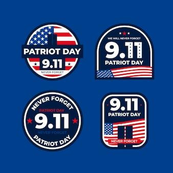 9.11 collection de badges de la fête des patriotes