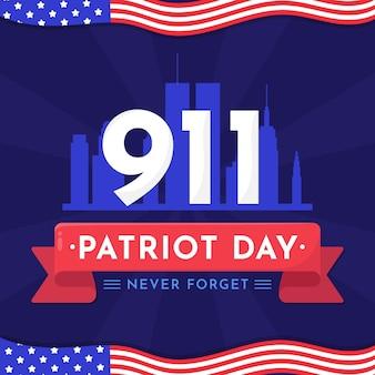 9.11 illustration du jour du patriote