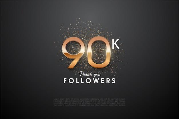 90 000 adeptes avec un nombre étincelant au milieu.