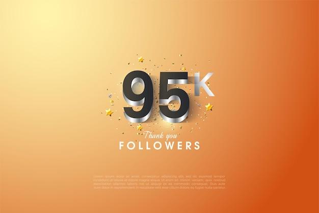 95000 abonnés avec une doublure en argent