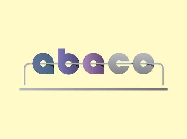 Abaco count logo de vecteur de calcul