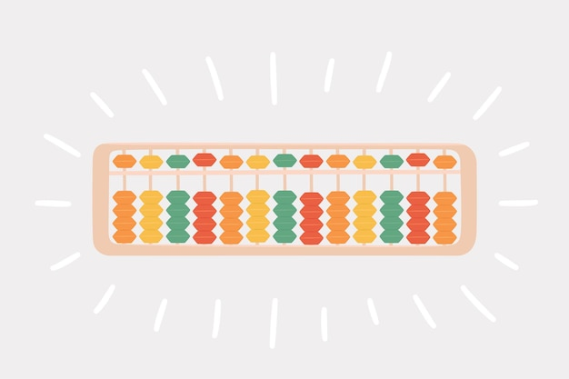 Abacus soroban pour apprendre le calcul mental pour les enfants. concept du système japonais de calcul mental