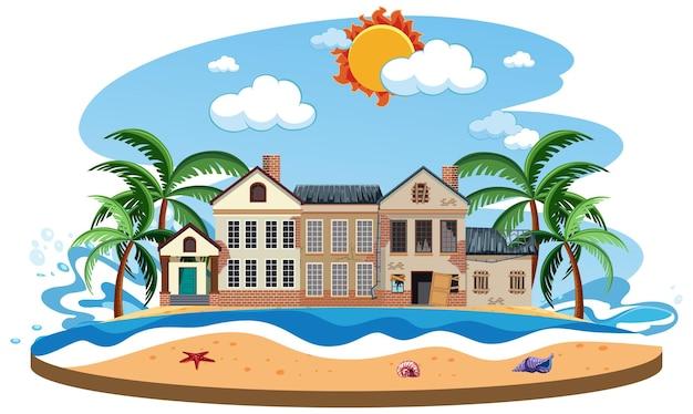Abandonner la maison sur l'île déserte