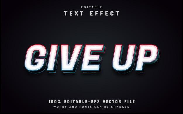 Abandonnez le texte, effet de texte 3d modifiable