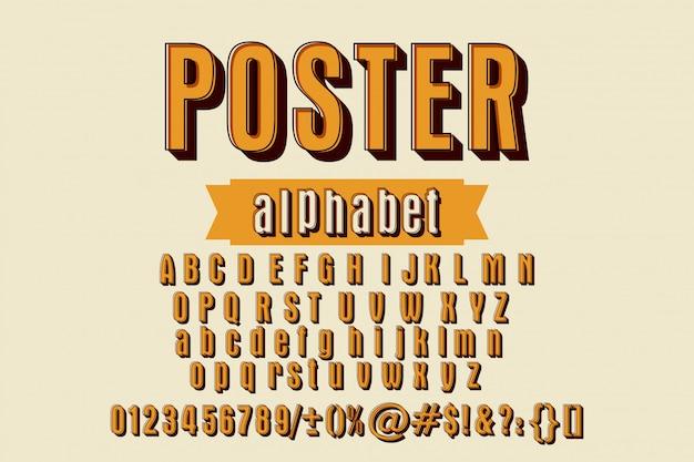 Abc alphabet. ensemble de lettres alphabet de style autocollant, chiffres et ponctuation.