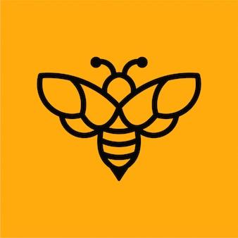 Abeille logo vectoriel minimaliste