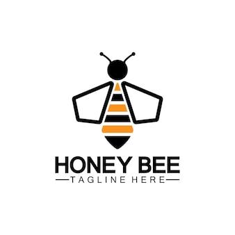 Abeille miel logo vecteur icône symbole modèle de conception d'illustration